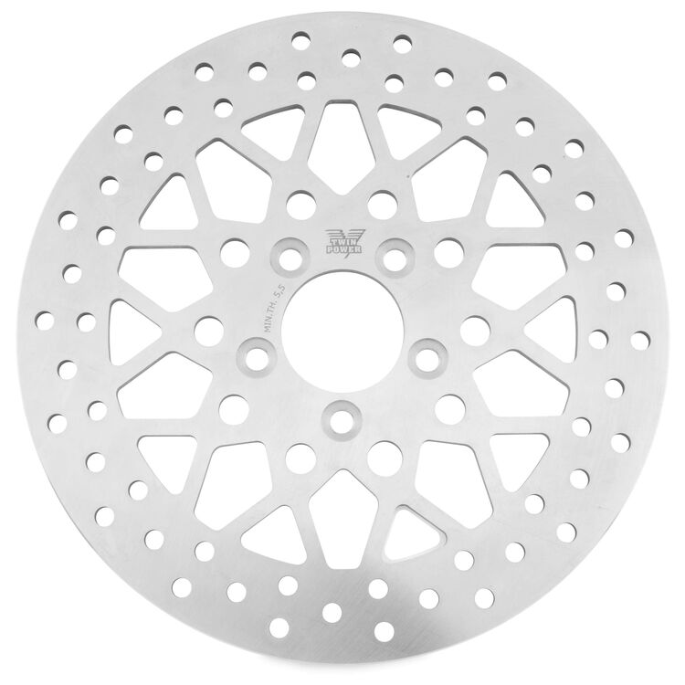 Twin Power Solid Mesh Rear Rotor For Harley Touring 2008-2021