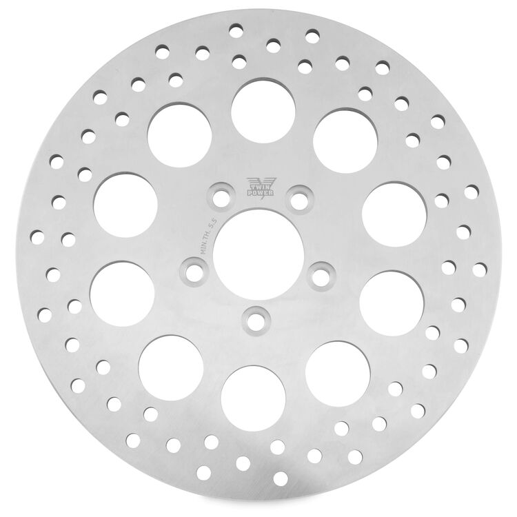 Twin Power Solid Hole Rear Rotor For Harley Touring 2008-2021