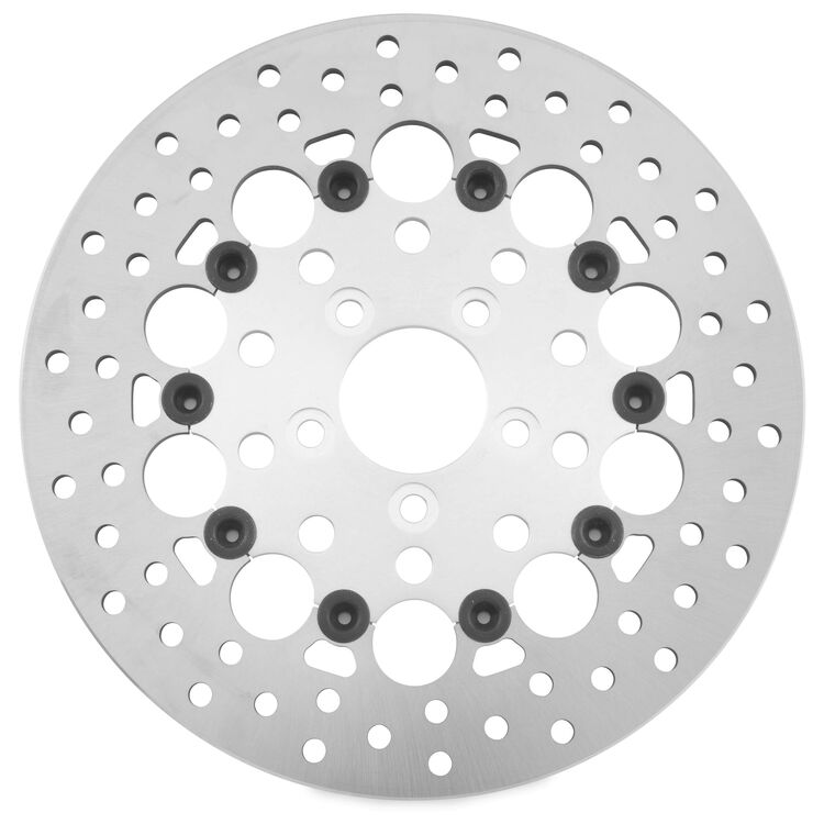 Twin Power Silver Floating Hole Rear Rotor For Harley