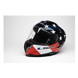 LS2 Challenger GT Carbon Americarbon Helmet Red/White/Blue / 2XL [Open Box]