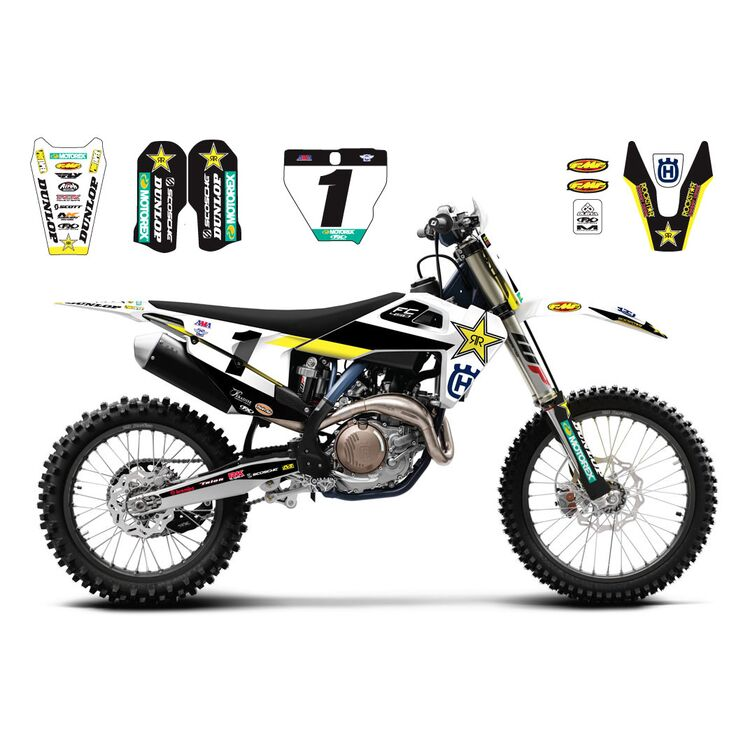 Factory Effex 2020 Rockstar Team Replica Graphics Kit Husqvarna TC / FC / TE / FE 2019-2020