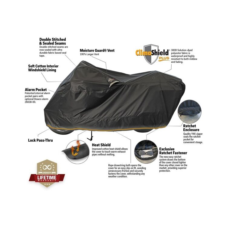 Dowco Guardian Weatherall Plus Ratchet Motorcycle Cover