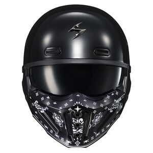 Scorpion EXO Covert X Bandana Face Mask Black [Open Box]