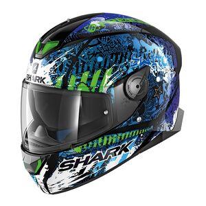 Shark SKWAL 2 Switch Riders Helmet Black/Blue/Green / MD [Open Box]