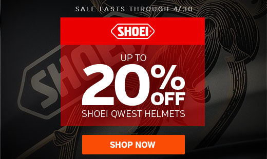 Shoei Qwest 4/15/2017 Sale